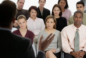 Employees Listening to Presentation --- Image by © Royalty-Free/Corbis